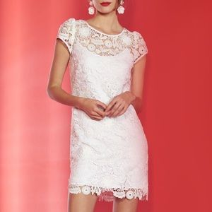 Milly Chloe 3D Lace Dress in White NWOT